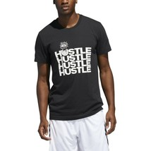 Adidas  Men's New Hustle Graphic Tee Black DZ8628 - $15.00