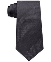 Kenneth Cole Reaction Men's Heather Bar Stripe Tie Grey One Size  - $27.23