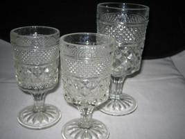 Vintage Anchor Hocking Wexford Water & Wine Goblets Glasses - $14.99