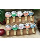 Wooden Clips,Wooden Pegs,gifts birthday Party favors decorations,Pin Clo... - $3.20+