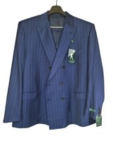 Lauren by Ralph Lauren Mens Suit Jacket Blue Pinstripe Wool Blend Lindsay Blazer - $120.29