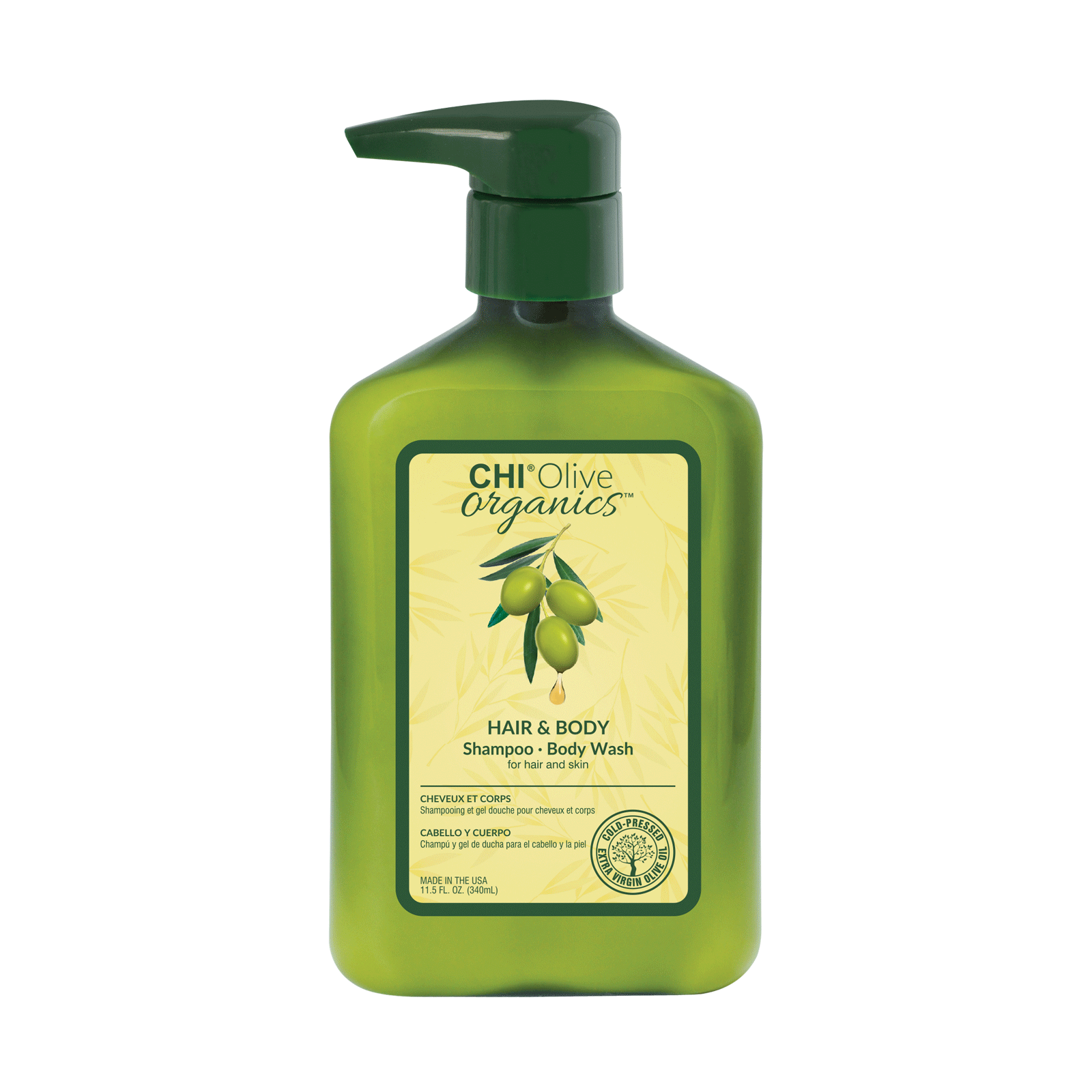 Farouk CHI Olive Organics Hair & Body Shampoo Body Wash,  11.5oz