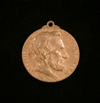 Vintage 1909 Centennial of Abraham Lincoln - Bronze medal pendant