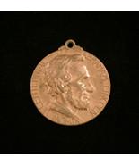 Vintage 1909 Centennial of Abraham Lincoln - Bronze medal pendant - $30.00