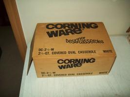 vintage Corning Ware WHITE 2 1/2 Qt designer casserole NEW OLD STOCK DC-... - $49.50