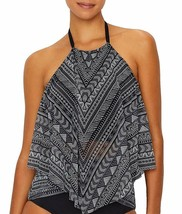 Coco Reef BLACK/WHITE LINES Pacific Stripe Ruffle Tankini Top, US 32DD, ... - $42.57
