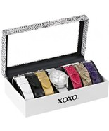 XOXO Women's XO9062 Silver-Tone Watch With Interchangeable Bands - $77.56 CAD