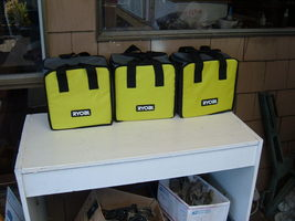 """Ryobi Tote Bags (3) 901605029. New From Kits With Dividers. APX..10"""" X 7"""" X 10"""" - $36.95"""