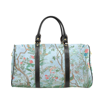 Spring Flower Pattern Gucci Style Large Travel Bag Custom Handmade Women... - $129.97