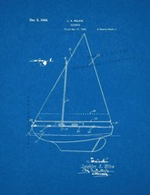Sailboat Patent Print - Blueprint - $7.95+