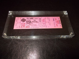 1/2 Pound Slabbed Paperweight Houston Rockets Courtside Full Ticket 2/28/84 - $37.18