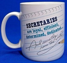 Hallmark Secretaries Are Loyal Efficient Vintage 1987 Coffee Mug Cup Ded... - $9.48