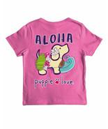 New PUPPIE LOVE Aloha  Pup  T SHIRT **YOUTH** - $23.99