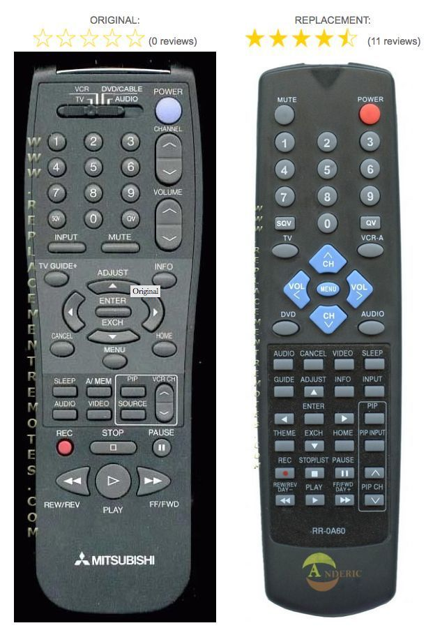 Mitsubishi TV Replacet Remote Control for and 50 similar items