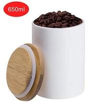 Sugar Bowl with Lids,Vermida 22oz Ceramic Food Storage Jar with Lid,Whit... - $15.09