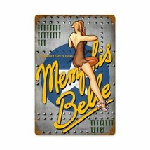 Memphis Belle Pin-Up Nose Art Steve McDonald Metal Sign - $29.95