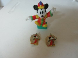 Disney Trading Pins of Mickey Mouse & One Figurine of Bandleader - $20.79