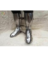 SCA LARP Steel Shoes knights protection with sabatons foot&Greaves Medie... - $140.00