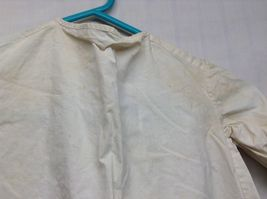 Vintage Off White Linen Button Up Baby Dress  image 10