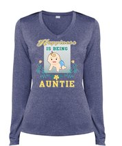 Happiness Is Being Auntie T Shirt, Being An Aunt T Shirt, Cool Shirt (Ladies LS  - $29.99+