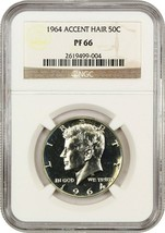 1964 50c NGC PR 66 (Accented Hair) Popular Variety - Kennedy Half Dollar - $106.70