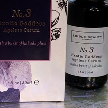 New In Box edible beauty No. 3 Exotic Goddess Ageless Serum 1Oz CLEAN BEAUTY NWT image 2