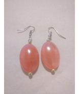 Pink Smoke Oval Earrings - $5.00