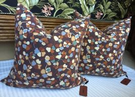 "MISSONI HOME Set of 2 PILLOWS Size: 24 x 24"" New SHIP FREE Action Collec... - $1,100.00"