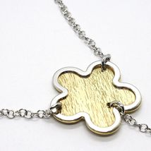 Silver 925 Necklace Rolo Chain, Flower, Daisy Pendants, Tone image 3