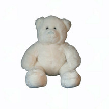 "Build A Bear White Bear Blue Eyes & Nose Plush Stuffed Animal Toy 14"" - $10.89"