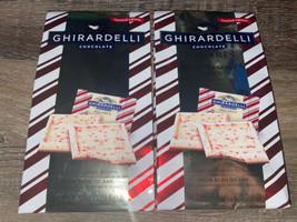Ghirardelli ~ Milk Chocolate Peppermint Milk Bark 4.57 oz,  2-Bags ~ 03/2021  - $14.01