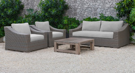 Renava Palisades Outdoor Beige Wicker Sofa Set - $1,999.00