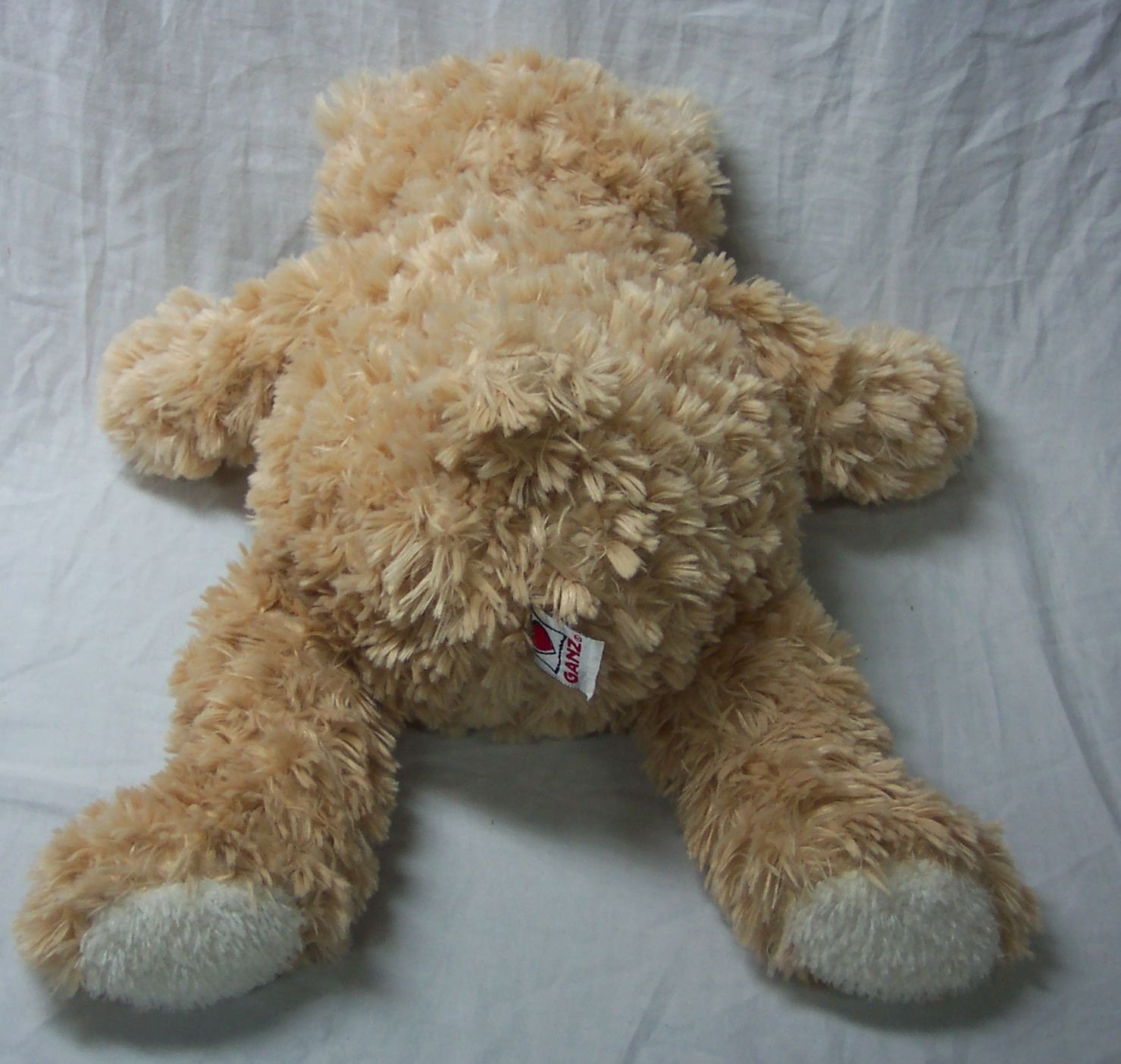 "GANZ VERY SOFT BIG LIGHT BROWN 15"" TEDDY BEAR Plush Stuffed Animal TOY"