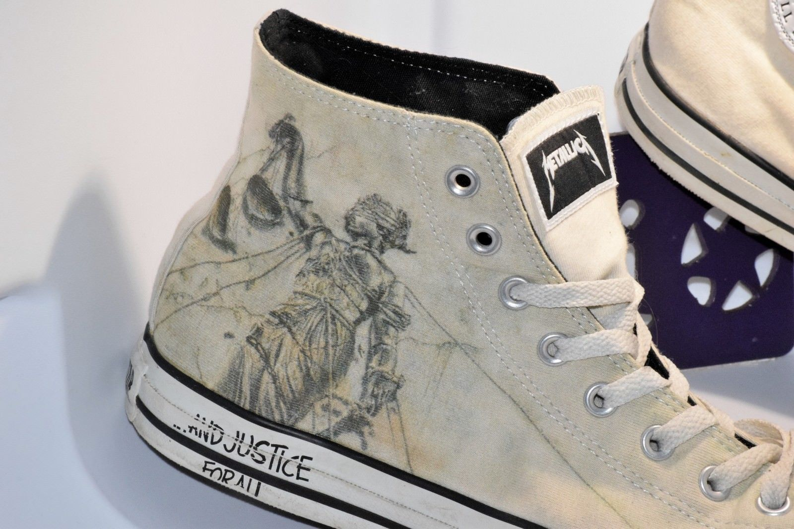 ad02eacf66f9 Converse Metallica 11 Men s 13 Women s and justice for all Frantic 2008  artwork