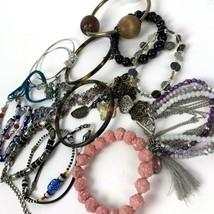 Costume Jewelry Lot Vtg to Modern Boho Bracelets Bangles - $21.73
