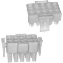 3 Pack 7700231 Amp Connector, 770023-1 White Comes In Two Parts Te Connect 7609 - $6.17