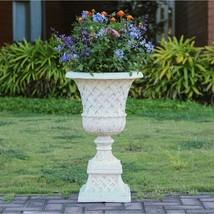 Planter Urn Pedestal Cast Stone Lattice Lightweight Fiberglass Outdoor G... - $2.113,25 MXN