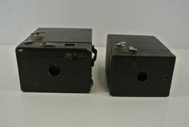 Eastman Kodak Co USA No.2 and No.2A Brownie Box Film Camera 116 and 120 Lot of 2 - $14.49