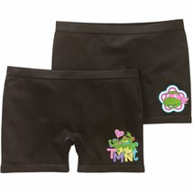 Teenage Muntant Ninja Turtles Girls Seamless Play Shorts 2 Pack Size SMALL 6-6X - $9.79