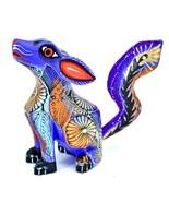 Handmade Alebrijes Oaxacan Copal Wood Carved Folk Art Howling Wolf Coyot... - €56,72 EUR
