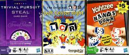 Family Game Night Card Game Set: Trivial Pursuit -Yahtzee- Left Center R... - $9.88