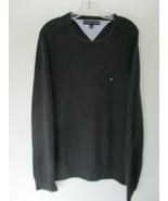 Tommy Hilfiger Men's Size XL 100% Cotton Long Sleeve Solid Gray Sweater - $20.80