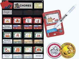 NEATLINGS Chore Chart System | 1 Child | 80+ Chores | Teal & Red Cards - $38.95