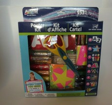 Artskills Craft Poster Kit 253 Pieces Letters Stencils Scissors Markers ... - $16.42