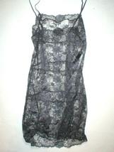 NWT $200 New Designer Josie Natori Night Chemise Lace Gray Sexy Lingeri ... - $200.00