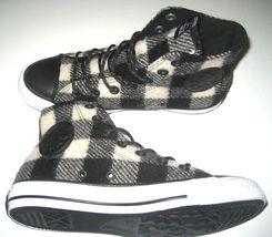 153834C Converse Wool Mens 8 White CTAS Black Size Shoes Hi Woolrich New 5 Plaid SYwSqUrO