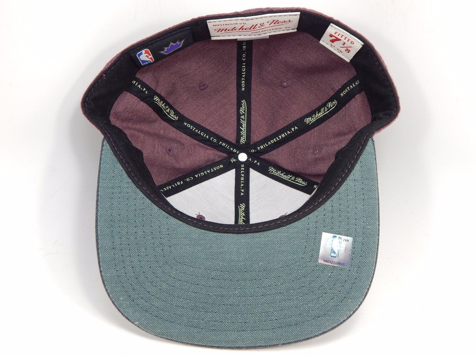 Sacremento Kings Mitchell & Ness Size 7 1/8 Crown Fitted NBA Cap Hat Gray Purple