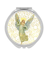 Victorian Angel Arabesque Noel : Gift Compact Mirror Vintage Retro Chris... - £9.44 GBP