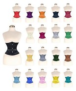 Under bust 3 layers Double Steel Boned Waist  Satin  corset 20+COLOURS - $29.99+