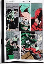 1992 Marvel Comics Daredevil 302 page 3 color guide production artwork: ... - $99.50
